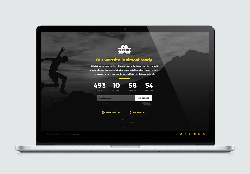 Free Website Template - Advent