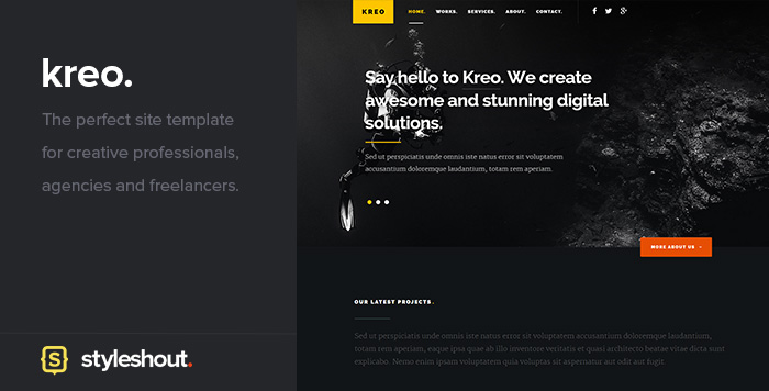 Free Website Template - Kreo
