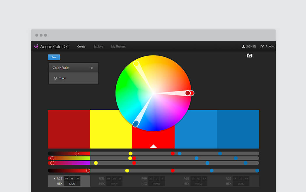 Color palette generator and color tool - Adobe Color CC