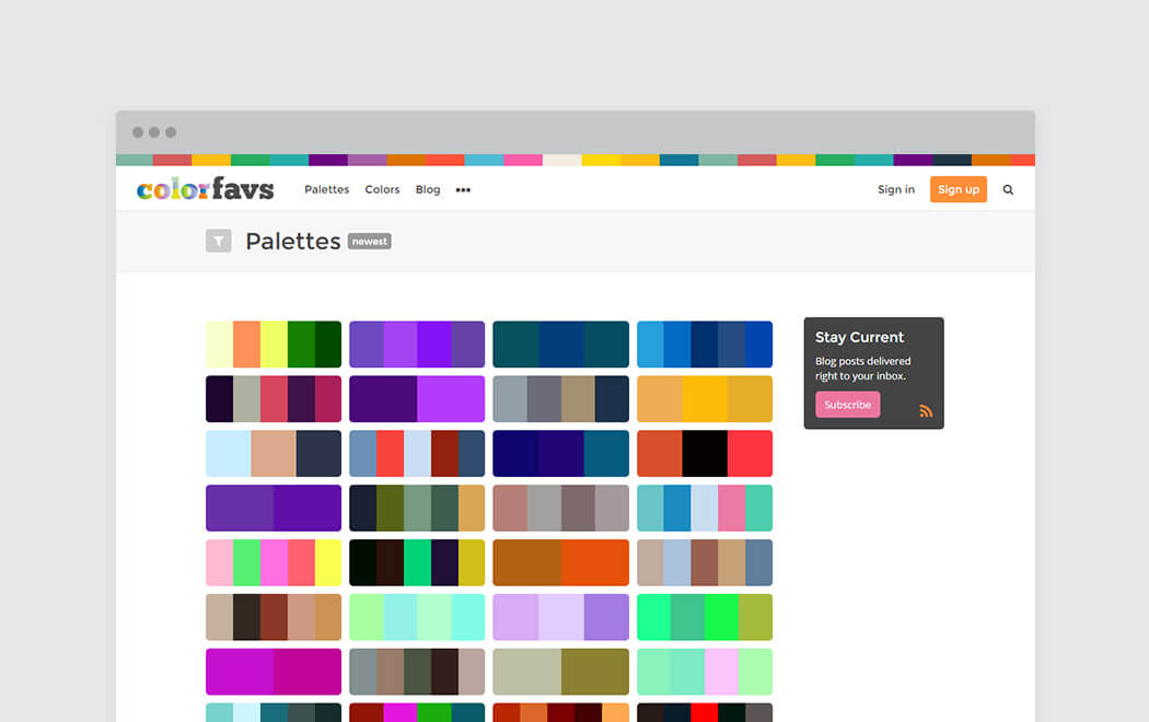 Color palette generator and color tool - Color Favs