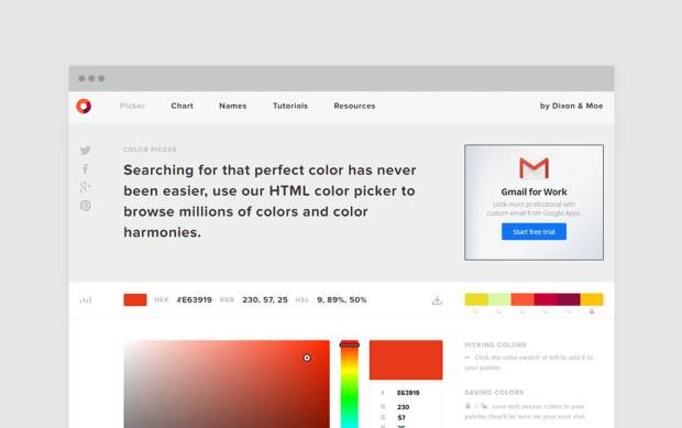 Color palette generator and color tool - Colorpicker