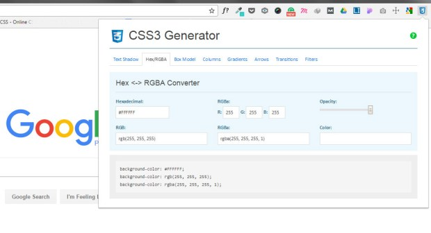 Chrome Extension for Web Designers - CSS3 Generator