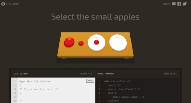 CSS learning games - CSS Diner webapp