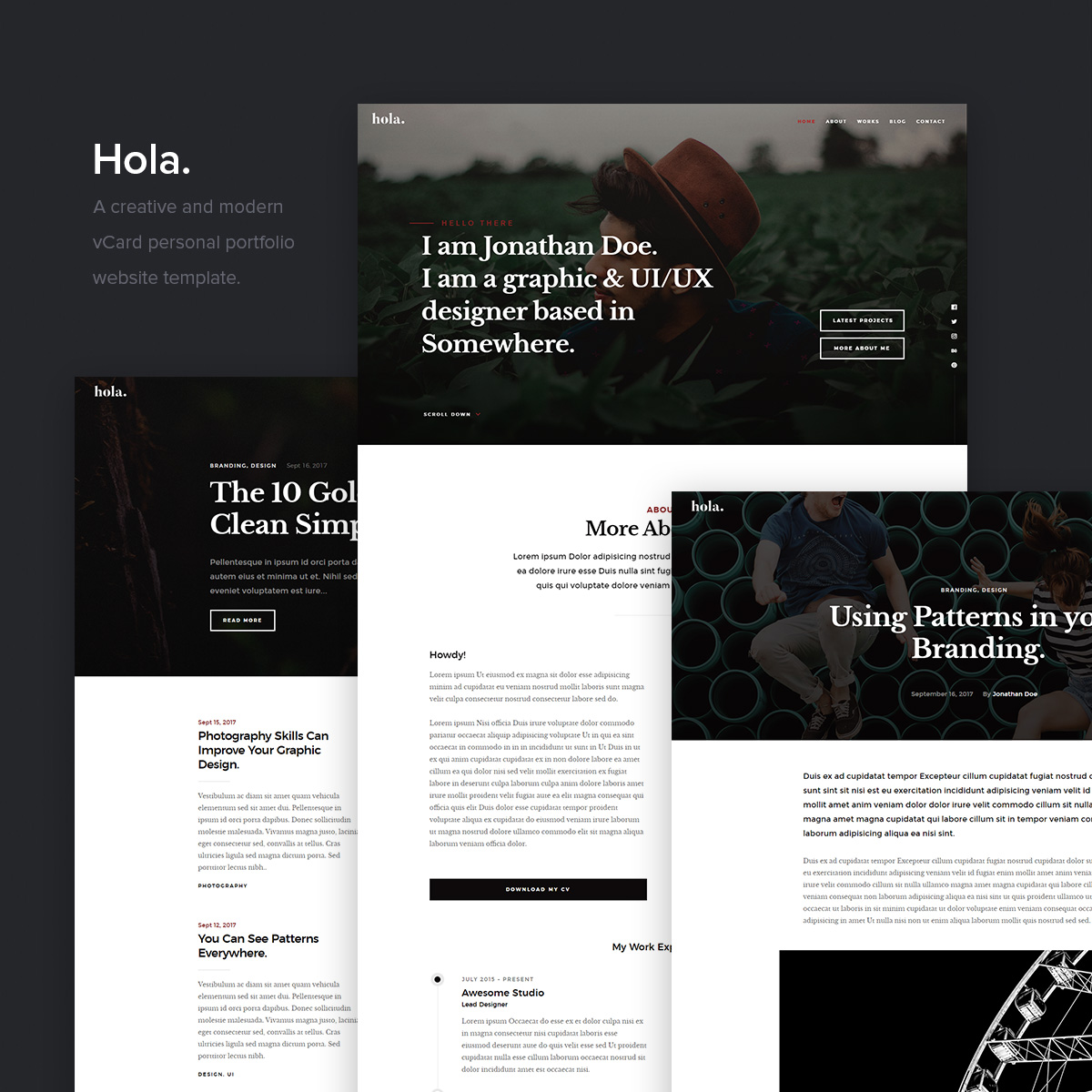 Looks - New website stylish template video