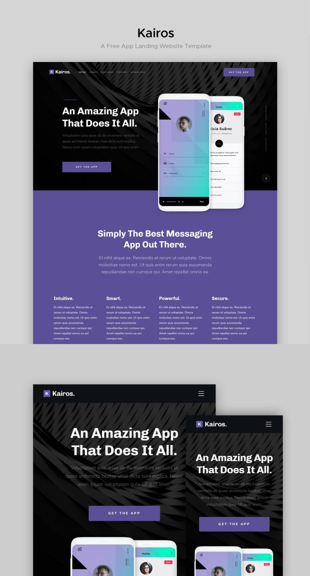 Free website template - Kairos