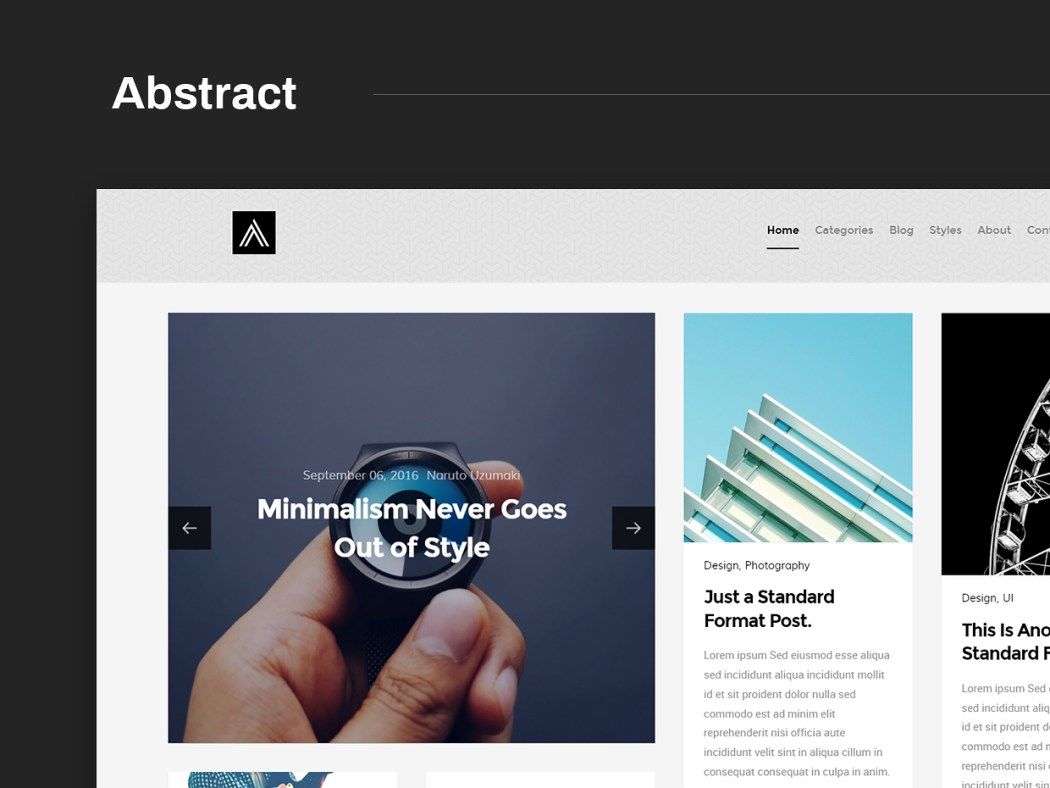 Free Website Template - Abstract