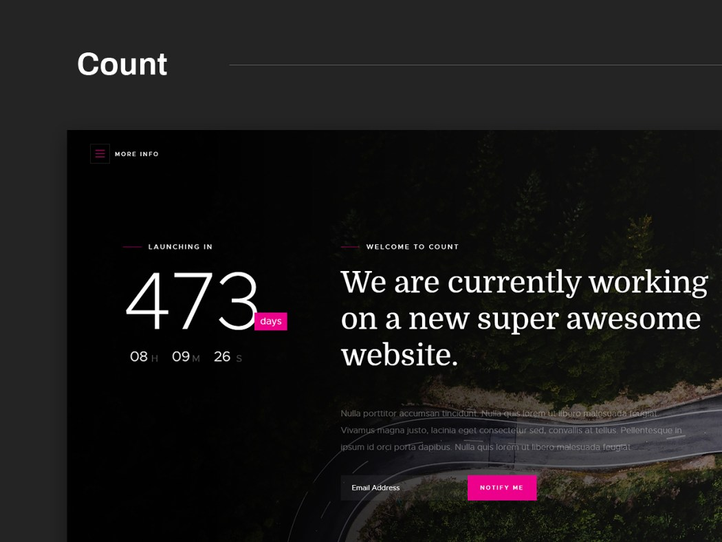 Free Website Template - Count