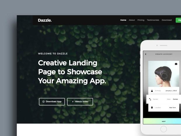 Free Website Template - Dazzle 01