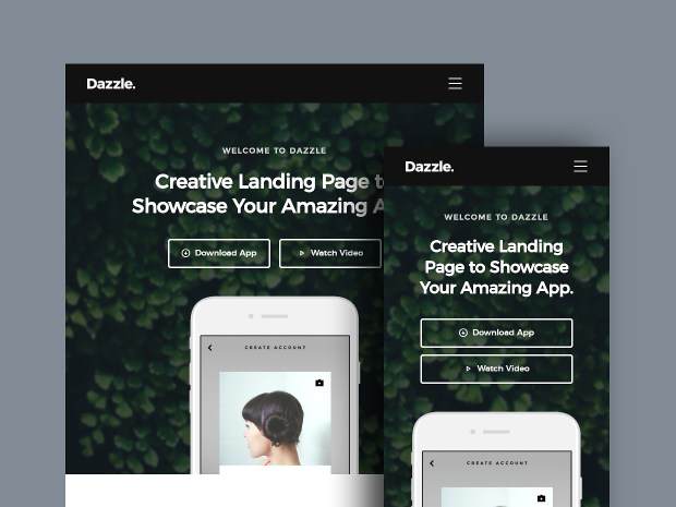 Free Website Template - Dazzle 02