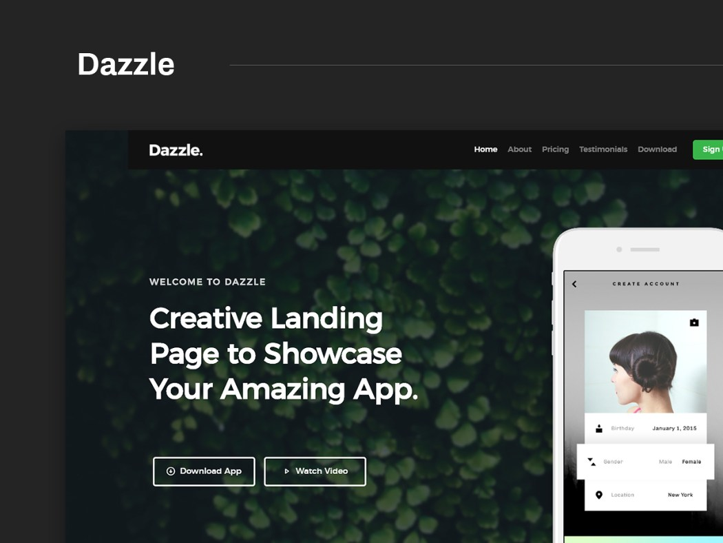 Free Website Template - Dazzle