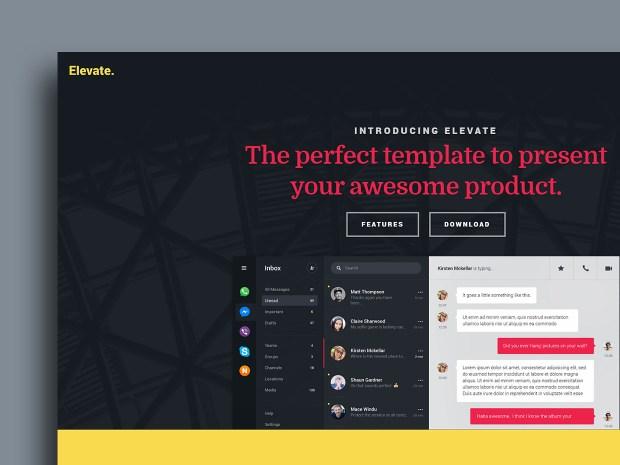 Free Website Template - Elevate 01