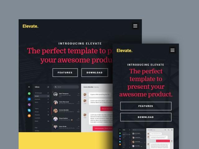 Free Website Template - Elevate 02