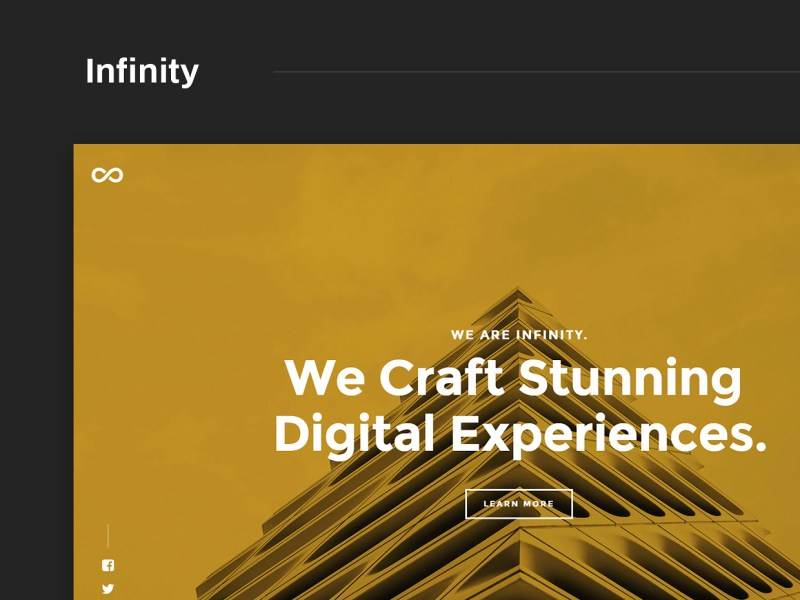Free Website Template - Infinity