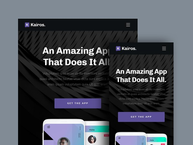 Free Website Template - Kairos 02