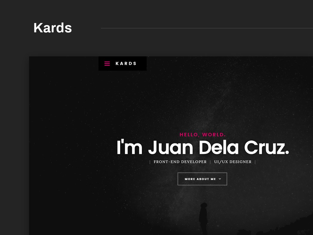 Free Website Template - Kards