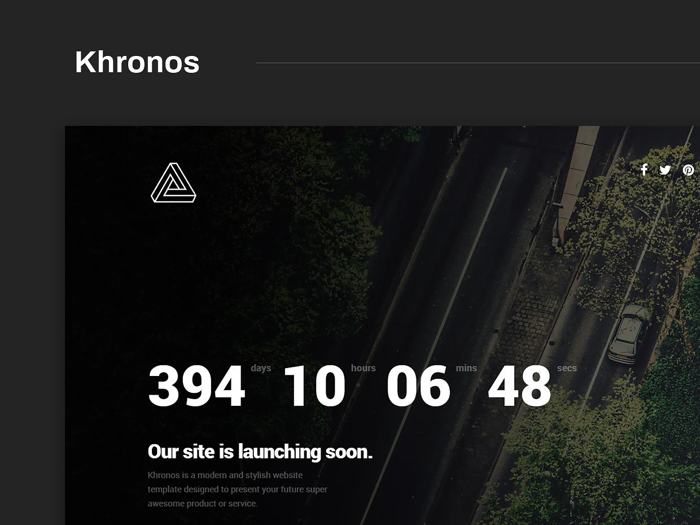 Free Website Template - Khronos