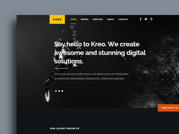 Free Website Template - Kreo 01