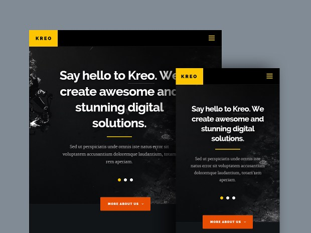 Free Website Template - Kreo 02