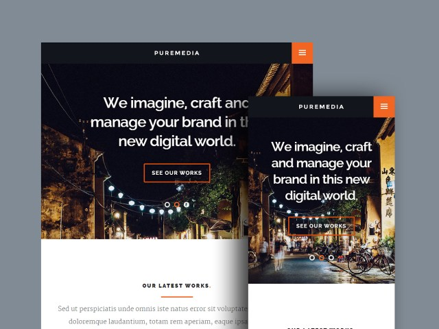 Free Website Template - Puremedia 02