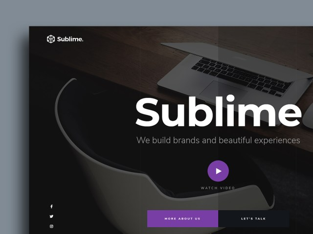 Free Website Template - Sublime 01