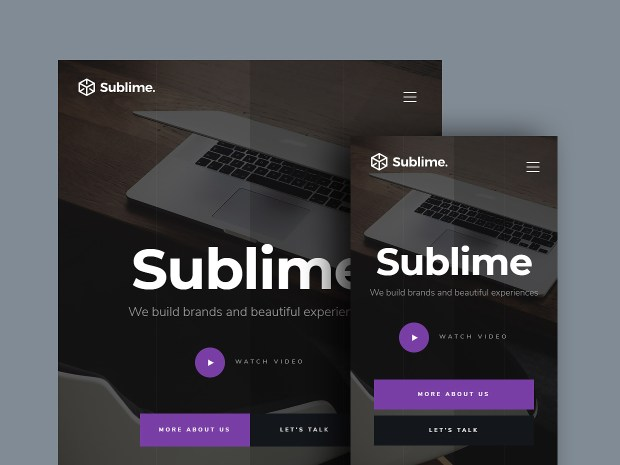 Free Website Template - Sublime 02