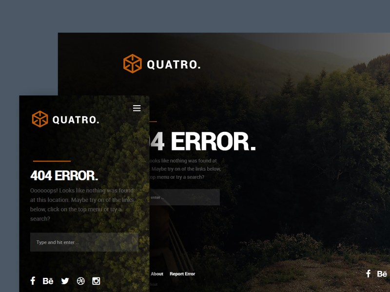 Free Website Template - Quatro