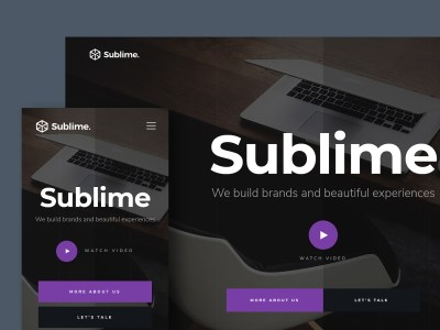 Free Website Template - Sublime