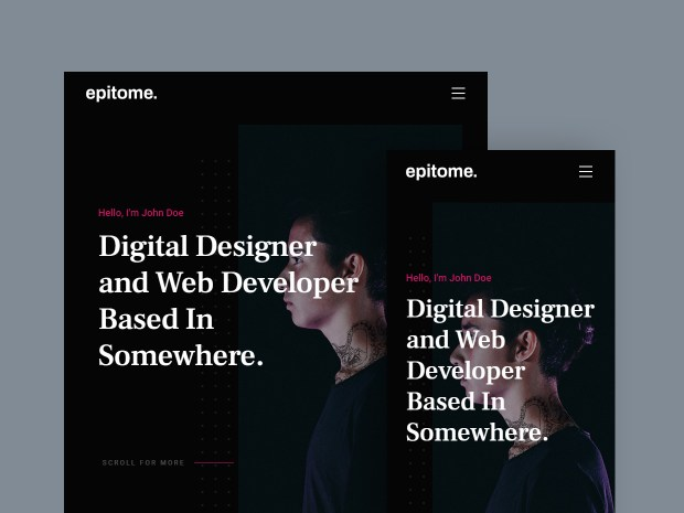 Free Website Template - Epitome 02