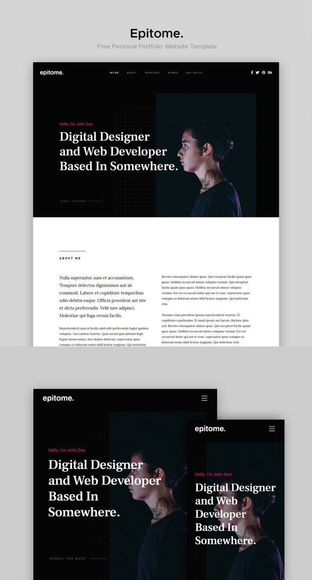 Free Website Template - Epitome