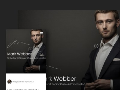 Ja - Advanced Personal Resume / CV vCard Template