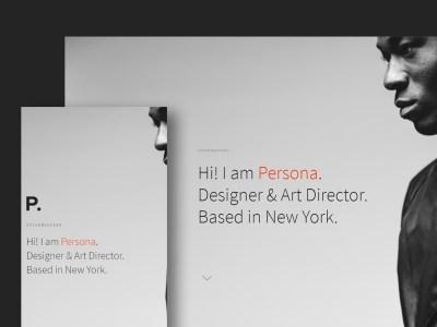 Persona - Minimal Resume/CV Template