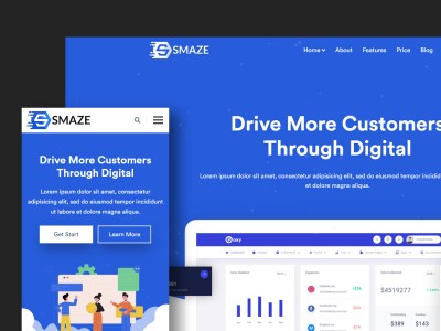 Smaze – Creative HTML5 Template for Saas, Startup & Agency