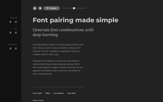 Fontjoy - Excellent Font Pairing Tools for Designers
