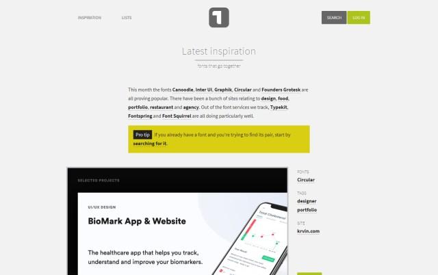 Type.io - Excellent Font Pairing Tools for Designers