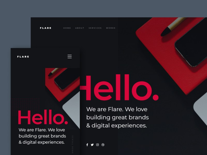 Flare - Free Agency Website Template