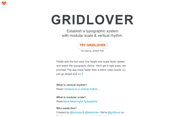 Gridlover - Online Type Scale Calculators Every Designer Should Know