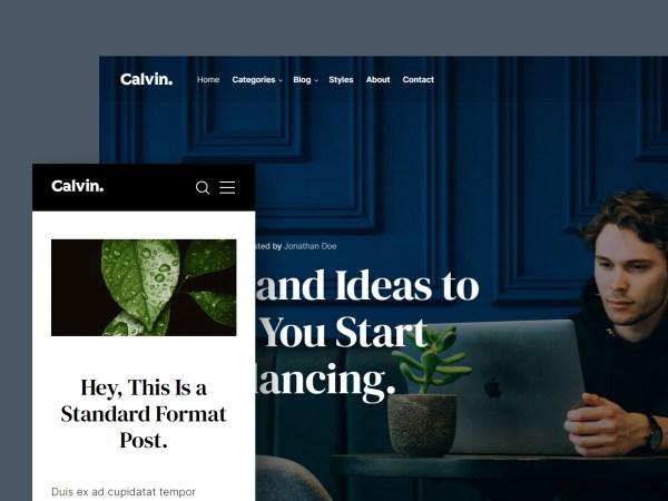 Calvin - Free HTML Blog Template