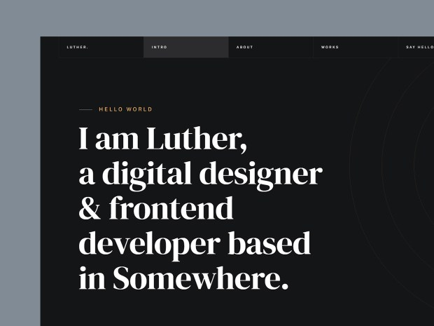 Luther - Free Resume Website Template 01