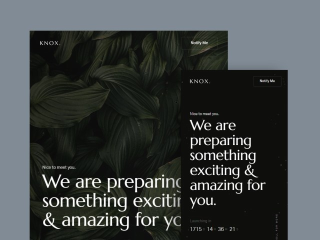 Knox - Free Coming Soon Website Template 02