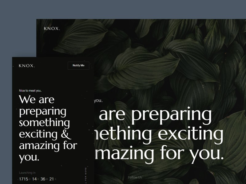Knox - Free Coming Soon Website Template
