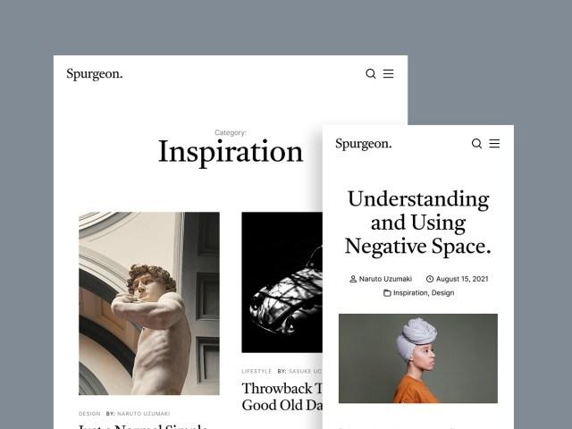 Spurgeon - Free HTML Blog Template - 02