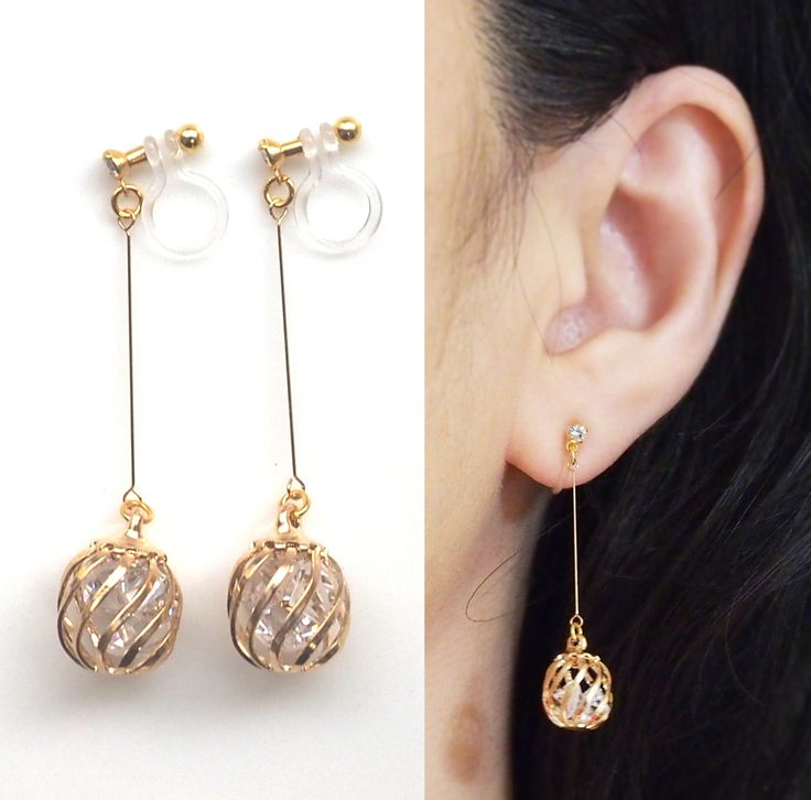 The general view of the clip earrings  StyleSkier.com
