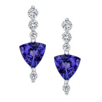 Get the Fancy of Colors on your Ears with Tanzanite ...