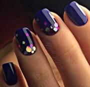 dark blue nail art design 2017