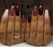 acrylic nail design winter