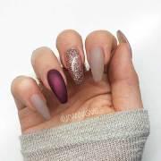 acrylic nail design winter