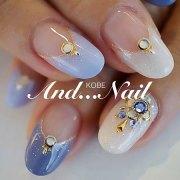 cute korean nail design
