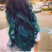 turquoise hair dye stand