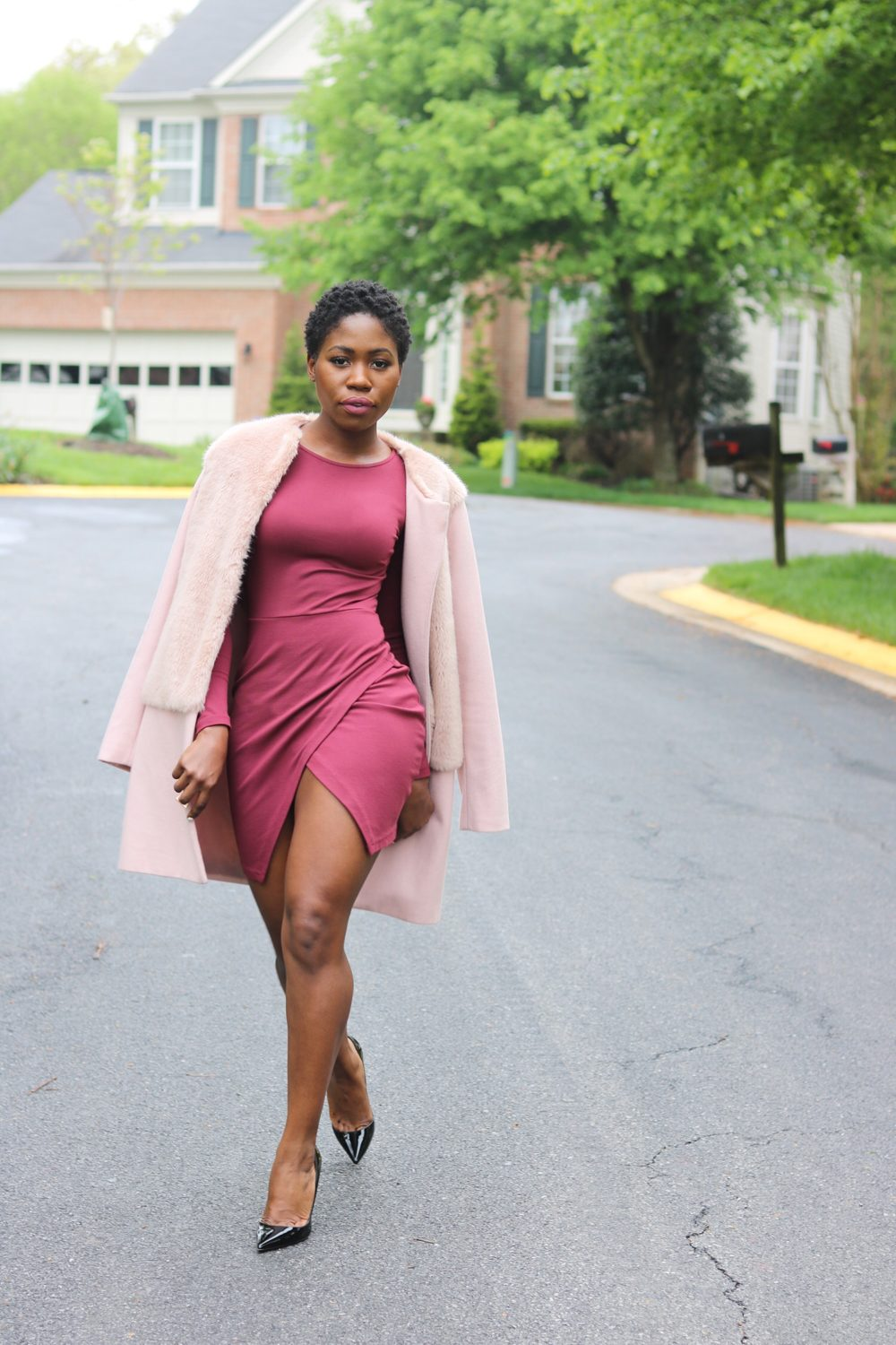 style synopsis burgundy dress