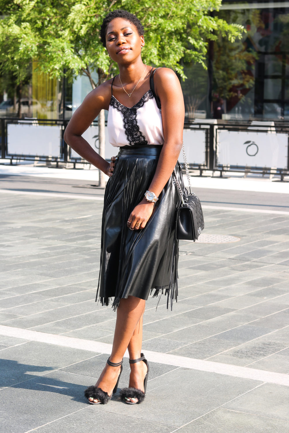 style synopsis ruffle skirt and lace top
